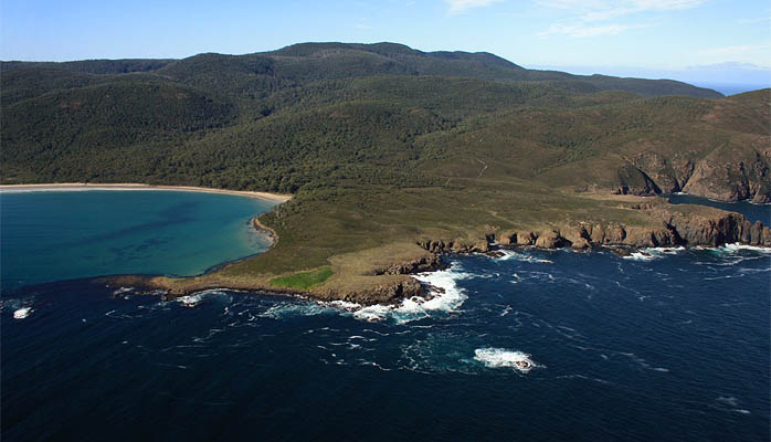 Cloudy Bay and Blue Devil Rock, Bruny Island